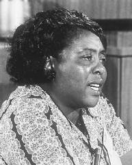 "Fannie Lou Hamer, Civil Rights Activist, ""the lady who sings the hymns,"" ""that illiterate woman"""