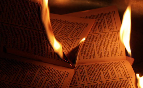 Spotting God…In Burning Books
