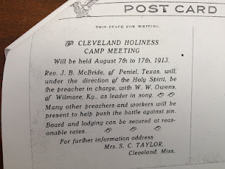 The Duties of a 1913 Preacher in Cleveland, MS