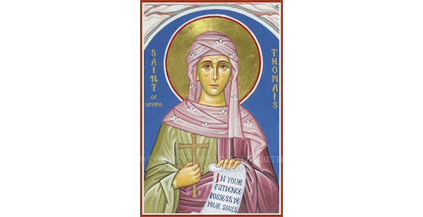 Thomais, Martyr, Devoted Wife, Killed by her Father-in-Law